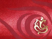Lord Shri Ganesh pattern in red color Royalty Free Stock Image
