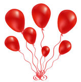 Beautiful red balloon in the air Stock Photography