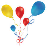 Beautiful red balloon in the air. Stock Photos