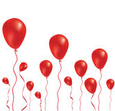 Beautiful red balloon in the air. Vector illustration Stock Images
