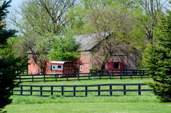 Beautiful red barn Royalty Free Stock Images