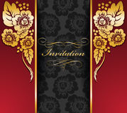 Beautiful red-black invitation Royalty Free Stock Images