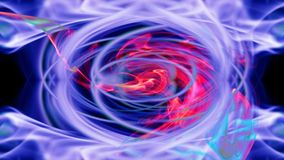 Beautiful red-blue swirling background. Abstraction on a black background Royalty Free Stock Photos