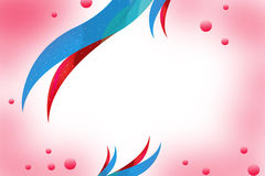 Beautiful red and blue waves bubbles, abstrack background Stock Photography