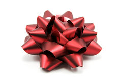 Beautiful red bow Stock Images