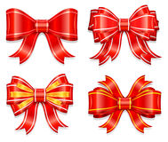 Beautiful red bow Stock Image