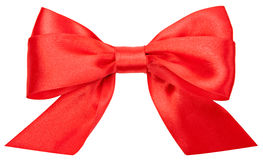 Beautiful red bow isolated on white background. Hollyday Royalty Free Stock Image