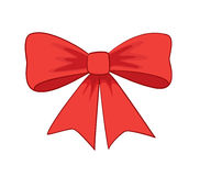 Beautiful red vector bow-knot Royalty Free Stock Photo