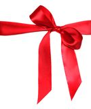 Beautiful Red Bow on White Royalty Free Stock Photos