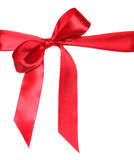 Beautiful Red Bow on White Stock Image