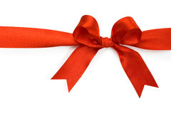 Beautiful red bow on white background. Isolate Stock Photos