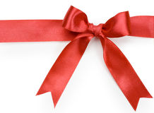 Beautiful red bow on white background. Isolate Stock Image