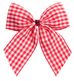Beautiful red bow on white Stock Images