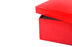 The beautiful red box. Is isolated on a white background Royalty Free Stock Image