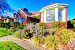 Beautiful red brick house Royalty Free Stock Photography