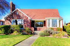Beautiful red brick house Royalty Free Stock Photo