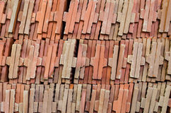 Beautiful red bricks for background. And wallpaper Stock Image