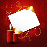 Beautiful red candles Royalty Free Stock Photography