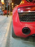 A sport red car royalty free stock images