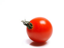 Beautiful red cherry tomato isolated on white Royalty Free Stock Images
