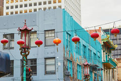 Beautiful red Chinese lanterns in Chinatown of San Francisco Royalty Free Stock Image