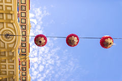 Beautiful red Chinese lanterns in Chinatown Royalty Free Stock Photography