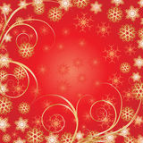 Beautiful Red Christmas background. Background for your greetings card, vector Royalty Free Stock Photo