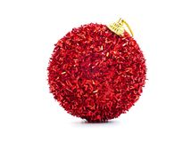 a beautiful red christmas ball stock photos
