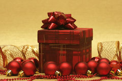 Beautiful Red Christmas Balls Royalty Free Stock Images