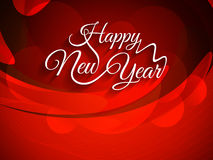 Beautiful red color background with elegant text design of Happy New Year. Beautiful red color vector background with elegant text design of Happy New Year Stock Images