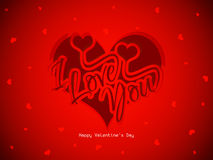 Beautiful red color love background with hearts an Stock Photos