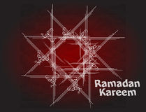 Beautiful red color Ramadan Kareem background design. Royalty Free Stock Photos
