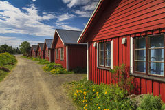 Beautiful red cottage houses. Stock Photography