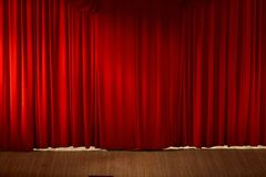 Beautiful red curtain Royalty Free Stock Photo