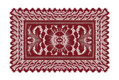 Beautiful red doily. Isolated on white background Stock Photos