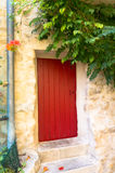 Beautiful red door Stock Image