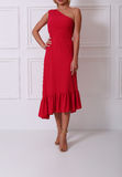 Beautiful red dress Stock Images