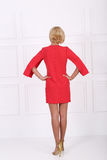 Beautiful red dress Royalty Free Stock Images