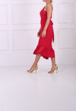 Beautiful red dress Royalty Free Stock Photography