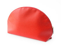 Beautiful red female bag Royalty Free Stock Images
