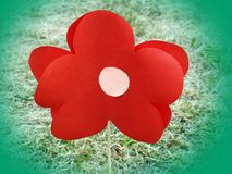 Flower made from red paper, Lithuania Royalty Free Stock Image