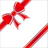 Beautiful a red gift bow. Royalty Free Stock Image