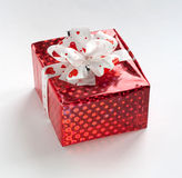 Beautiful red gift box Royalty Free Stock Photos
