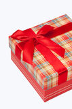 A beautiful red gift box with red bow Stock Images