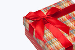 A beautiful red gift box with red bow.  Royalty Free Stock Photos
