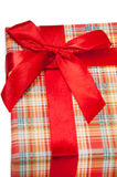 A beautiful red gift box with red bow Royalty Free Stock Photos