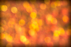 Beautiful Red Golden Bokeh Background Stock Photo