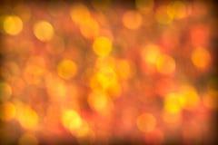 Beautiful Red Golden Bokeh Background Stock Photo