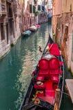 Beautiful red gondola in Venice Stock Image