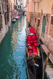Beautiful red gondola in Venice Royalty Free Stock Image
